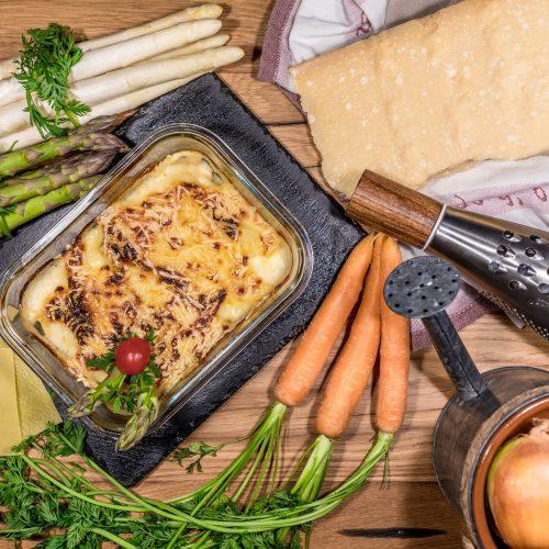 Vegetarische Spargel-Lasagne